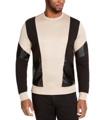 inc men's ribbed colorblocked sweatshirt, created for macy's