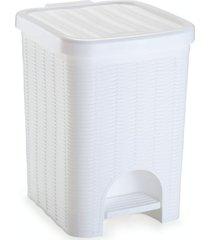 lixeira para banheiro de plástico 12 litros com pedal branca