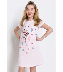 pijama e camisola acuo pijama e camisola bege - bege - menina - dafiti