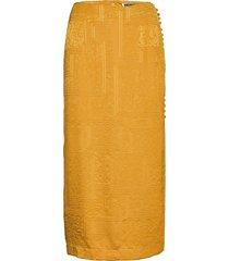 caitlin skirt knälång kjol gul rotate birger christensen