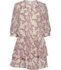 samantha flower korte jurk paars line of oslo
