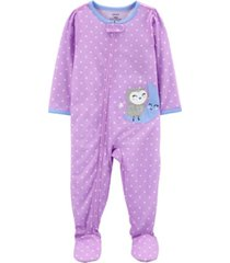 carter's baby girl 1-piece loose fit footie pjs