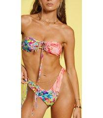 hanna schönberg x na-kd återvunnen blockfärgad bikinitopp - multicolor