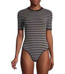 striped crewneck bodysuit