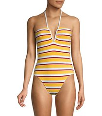 the heather striped terry one-piece swimsuit