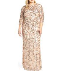 plus size women's mac duggal beaded evening dress