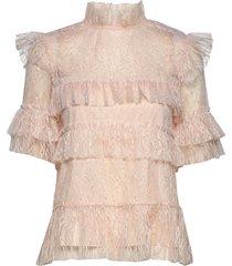 rachel blouse blouses short-sleeved roze by malina