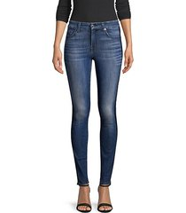 double racing stripe ankle jeans