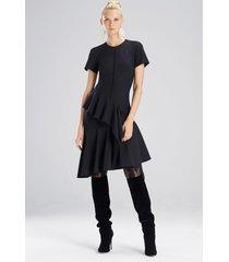 bistretch dress, women's, black, size 12, josie natori