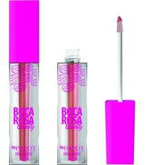 gloss labial diva glossy riri 3,5ml #divaglossyriri - boca rosa by payot único