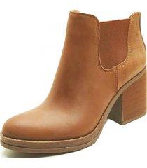 botin cuero roberta camel amano shoes