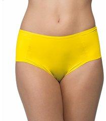calcinha alta lateral dupla colors amarela | 577.023