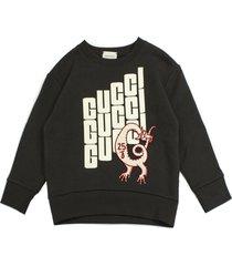 gucci sweatshirt in anthracite cotton