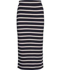 d1. breton stripe jersey skirt knälång kjol blå gant