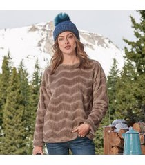 true grit women's chateaux apres pullover by sundance in brown medium