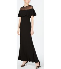 calvin klein illusion-yoke popover gown