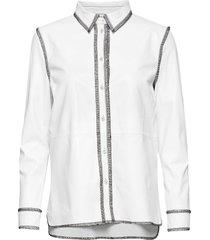 gabi shirt overhemd met lange mouwen wit stand studio