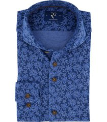 overhemd r2 amsterdam blauw bloemen