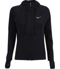 jaqueta com capuz mizuno victory - feminina - preto