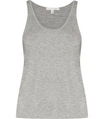 skin laura scoop neck vest - grey