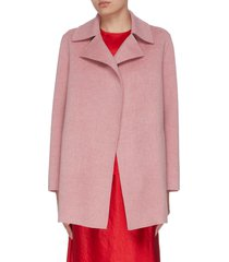 buttonless overlay coat