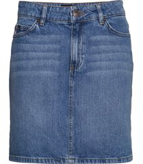 alexa blue denim skirt rok knielengte blauw lexington clothing