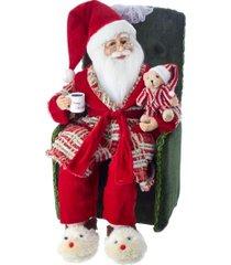 kurt adler 18-inch kringle klaus santa in pajamas