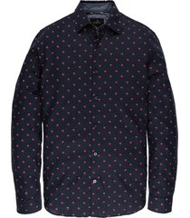 vanguard vsi197402 5287 long sleeve shirt print dark sapphire blauw