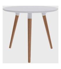 mesa redonda valentinna branco/péclaro retrô artesano