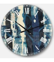 designart country charm oversized metal wall clock