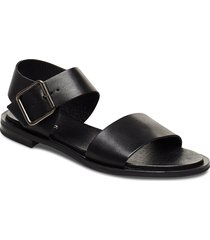 biadarla leather sandal shoes summer shoes flat sandals svart bianco