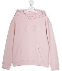 bonpoint cherry hoodie - pink