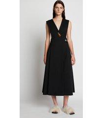 proenza schouler wool twill apron dress black 12