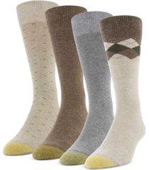 gold toe men's 4-pack clock argyle special socks