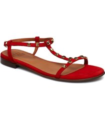 sandals 18620 shoes summer shoes flat sandals röd billi bi