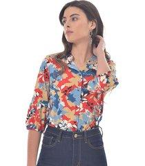 blusa para mujer en poliester multicolor color-multicolor-talla-xxs
