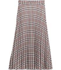 lång, rutig kjol med plissering