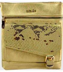 bandolera elegante dorado lilas carteras