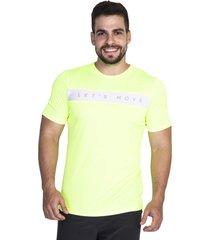 t shirt masculina modelo gola careca tecido poliã©ster bm9 amarela - amarelo - masculino - dafiti