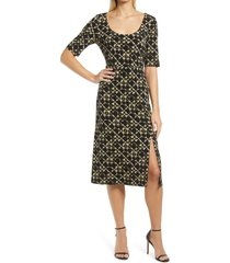 connected apparel knit midi dress, size 8 in olive at nordstrom