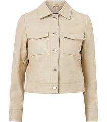 skinnjacka lynn pocket leather jacket