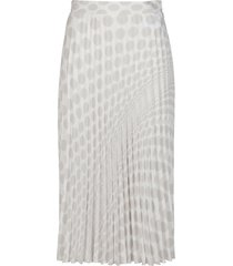 mm6 maison margiela white and navy viscose skirt