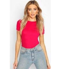 100% cotton crew neck t-shirt, berry