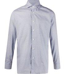 barba mini geometric print shirt - blue