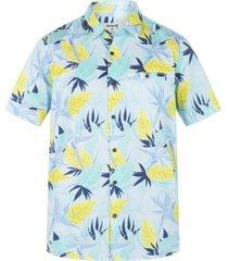 men's organic birdrock short sleeve button up shirt
