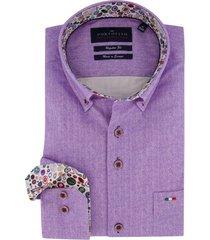overhemd portofino regular fit paars button down
