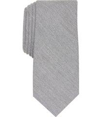 bar iii men's dunbar solid skinny tie, created for macy's