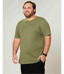 camiseta tradicional good vibes em botonê wee! verde musgo - gg