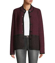 marble colorblock tweed jacket