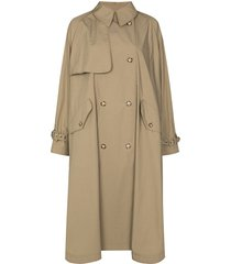 stella mccartney alexa trench-style cape - green